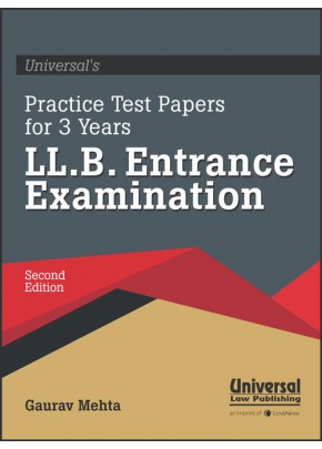 Universal's Practice Papers for 3 years LL.B. Entrance Examination