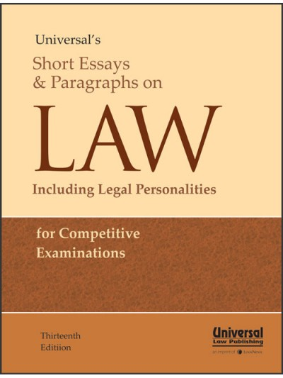 Short Essays and Paragraph on Law including Legal Personalities