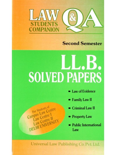 LL.B. Solved Papers (Delhi University), Second Semsters