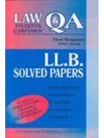 LL.B. Solved Papers (Delhi University), First Semester