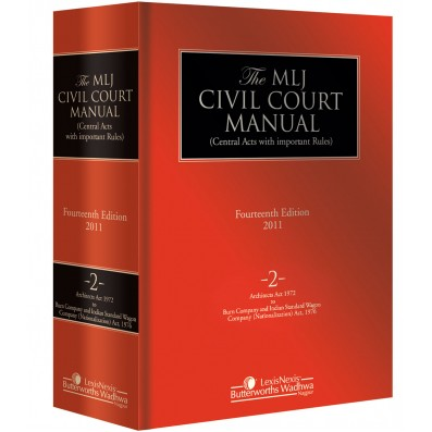 Civil Court Manual (Central Acts with important Rules); Architects Act, 1972 to Burn Company & IndianStandard Wagon Company (Nationalisation) Act, 1976; Vol 2