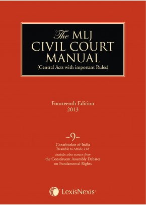 Civil Court Manual (Central Acts with important Rules); Constitution of India-Preamble to Article 21A ; Vol 9