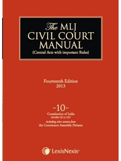 Civil Court Manual (Central Acts with important Rules); Constitution of India-Articles 22 to 213 ; Vol 10