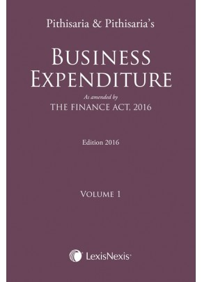 Business Expenditure-As amended by The Finance Act, 2016