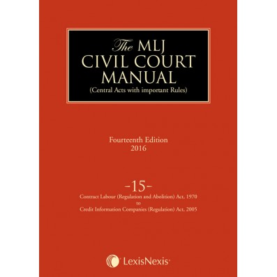 Civil Court Manual (Central Acts with important Rules); Contract Labour (Regulation and Abolition) Act, 1970 to Credit Information Companies (Regulation) Act, 2005 ; Vol 15