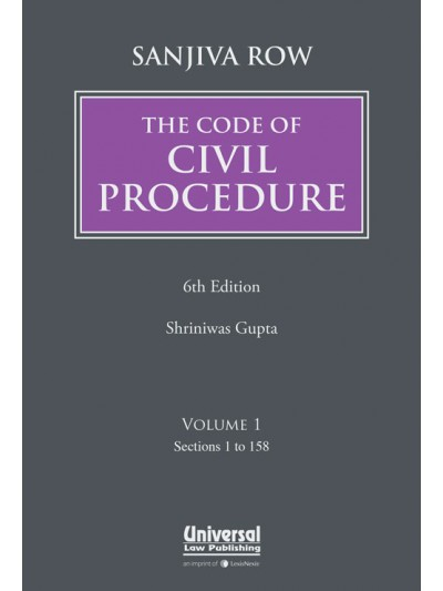 Sanjiva Row's The Code of Civil Procedure