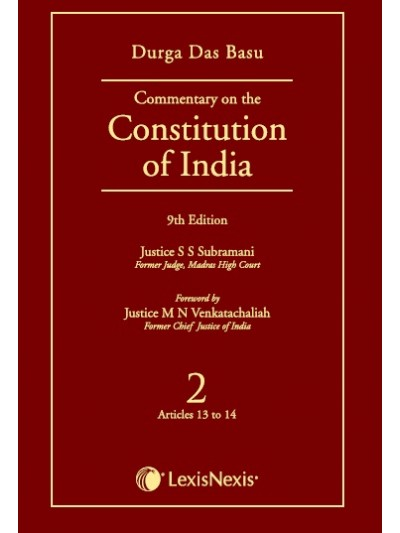 Commentary on the Constitution of India; Vol 2  ; (Covering Articles 13 to 14)