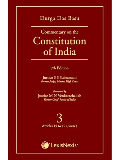 Commentary on the Constitution of India; Vol 3 ; (Covering Articles 15 to 19 (Contd.))