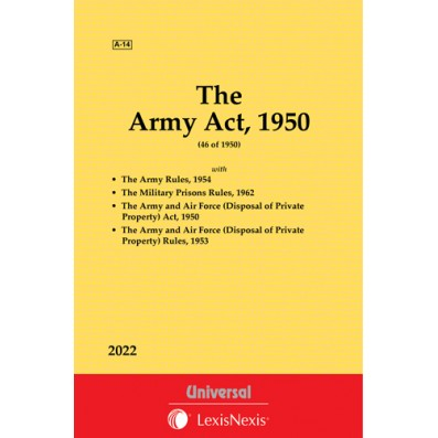 Army Act, 1950 with Rules, 1954