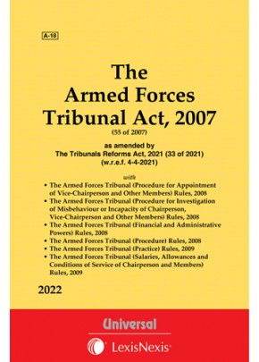 Armed Forces Tribunal Act, 2007 along with allied Rules
