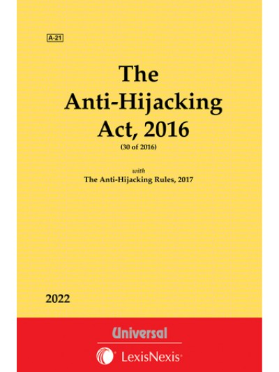 Anti-Hijacking Act, 2016 with Rules 2017