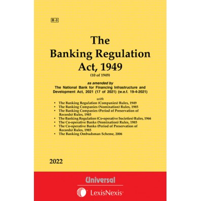 Banking Regulation Act, 1949 along with allied Rules and Scheme