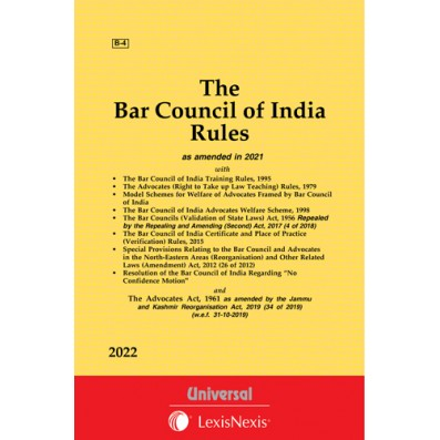 Bar Council of India Rules along with allied Rules and Advocates Act, 1961
