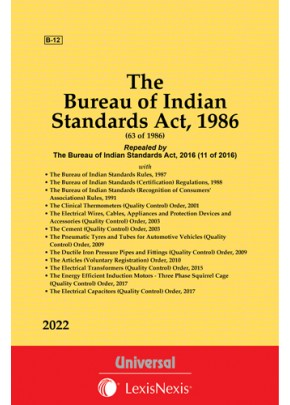 Bureau of Indian Standards Act, 1986 along with Rules and Regulations