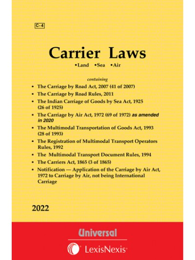Carriage by Air Act, 1972 see Carrier Laws (Land • Sea • Air)