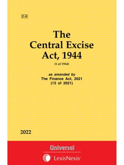 The Central Excise Act, 1944 (1 of 1944) as amended by The Taxation Laws (Amendment) Act, 2017
