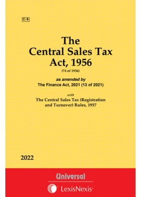 The Central Sales Tax Act, 1956 (74 of 1956) as amended by The Taxation Laws (Amendment) Act, 2017