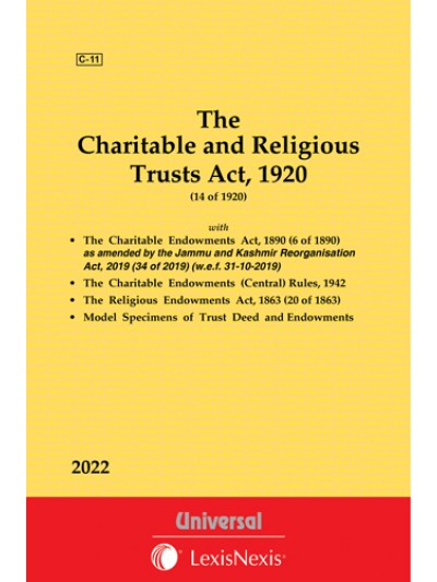 Charitable and Religious Trusts Act, 1920 along with Charitable Endowments Act, 1890 and Religious Endowments Act, 1863