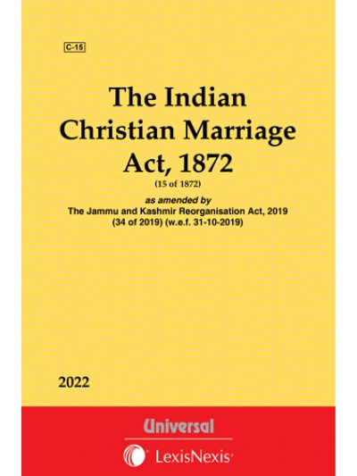 Christian Marriage Act, 1872 with State Amendments