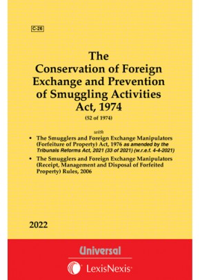 COFEPOSA Act, 1974 and SAFEMFOP Act, 1978 with Rules, 2006