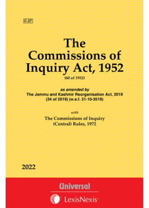 Commissions of Inquiry Act, 1952 along with Rules, 1972