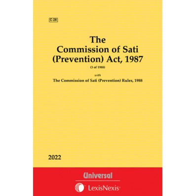 Commission of Sati (Prevention) Act, 1987 along with Rules