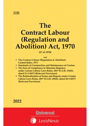 The Contract Labour (Regulation and Abolition) Act, 1970 along with Rules, 1971