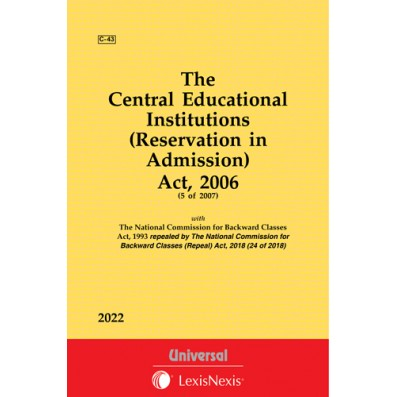 Central Educational Institutions (Reservation in Admission) Act, 2006