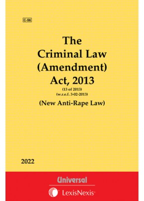 Criminal Law (Amendment) Act, 2013 (w.e.f. 03-02-2013) (New Anti-Rape Law)
