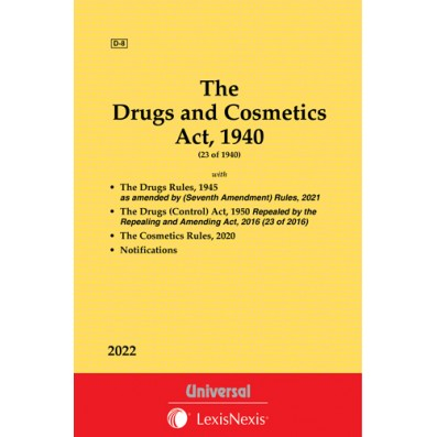 Drugs and Cosmetics Act, 1940 along with Rules, 1945 as amended by (Ninth Amendment) Rules, 2017 along with allied Act and Rules