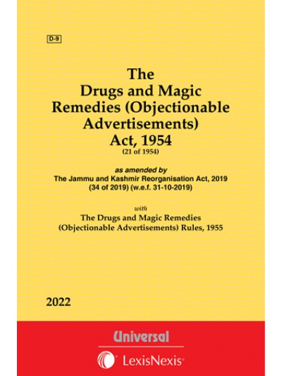 Drugs & Magic Remedies (Objectionable Advertisements) Act, 1954 along with Rules, 1955