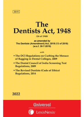 Dentists Act, 1948 with allied Rules