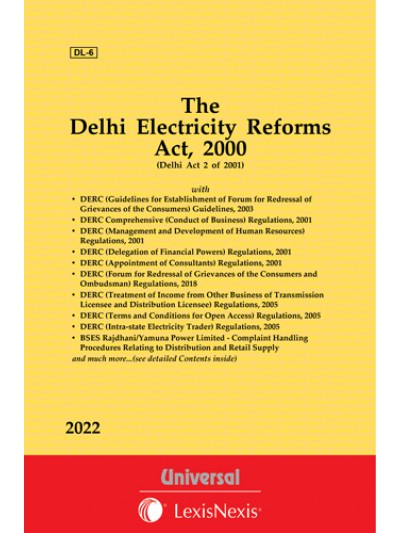 Delhi Electricity Reforms Act, 2000 along with Regulations