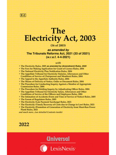 Electricity Act, 2003 along with Rules, 2005 and allied Rules and Order