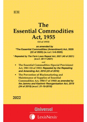 Essential Commodities Act, 1955 along with allied Acts