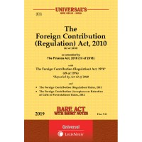 Foreign Contribution (Regulation) Act, 2010 along with Rules and Regulations