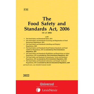 Food Safety and Standards Act, 2006 along with allied Rules, Regulations and order
