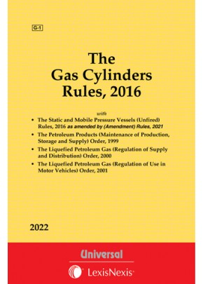 Gas Cylinders Rules, 2016 alongwith allied Rules & Orders