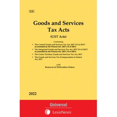 Goods and Services Tax Acts with allied Orders (Containing 4 Acts)