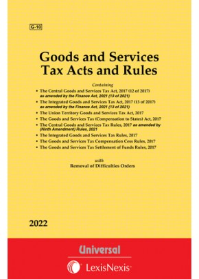 Goods and Services Tax Acts with allied Rules & Orders