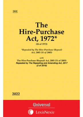 Hire-Purchase Act, 1972 along with Hire-Purchase (Repeal) Act, 2005