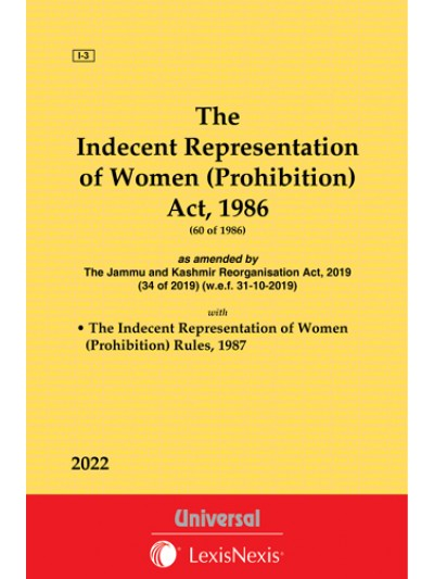 Indecent Representation of Women (Prohibition) Act, 1986 along with Rules, 1987