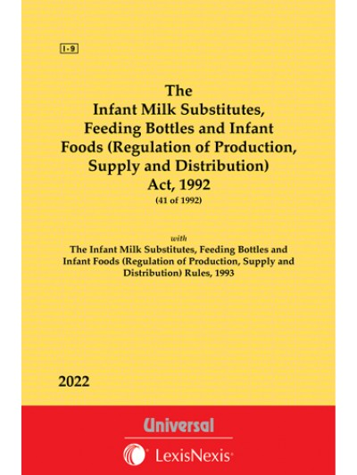 Infant Milk Substitutes, Feeding Bottles  and Infant Foods (Regulation of Production, Supply and Distribution)Act, 1992 along with Rules, 1993