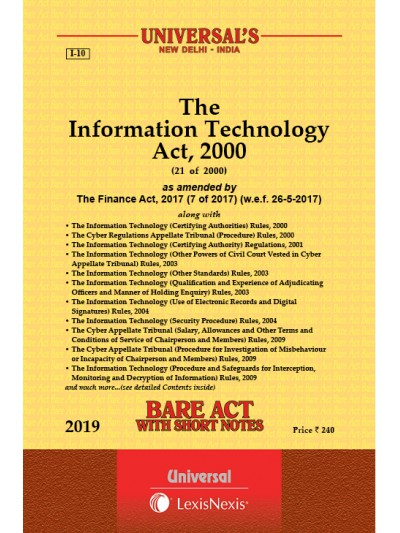 Information Technology Act, 2000 along with Rules & Regulations
