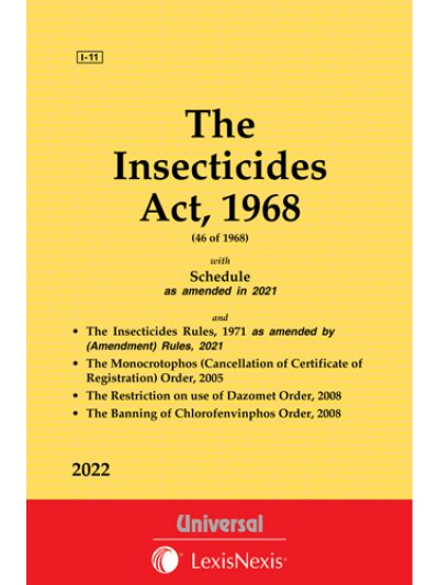Insecticides Act, 1968 along with Rules and Order