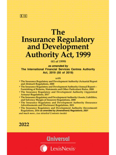 Insurance Regulatory and Development Authority Act, 1999 along with allied Rules and Regulations