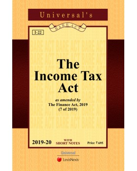 Income Tax Act as amended by the Finance Act, 2018 (Pocket Edn)