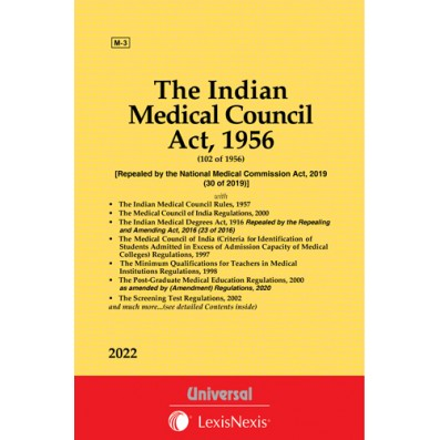 Medical Council Act, 1956 along with Allied Act, Rules, and Regulations
