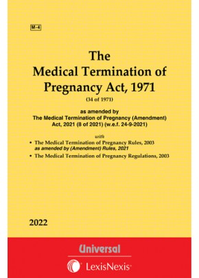 Medical Termination of Pregnancy Act, 1971 along withRules and Regulations