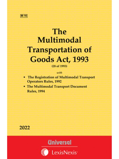 Multimodal Transportation of Goods Act,1993 along with allied Rules